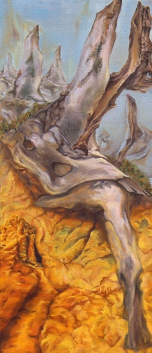Bluff Inhabitant 33 x 15 2016 Oil on Canvas